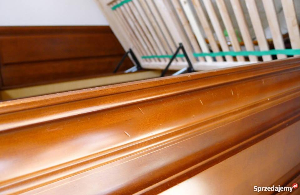 łóżko Drewniane Z Pojemnikiem Spar Meble