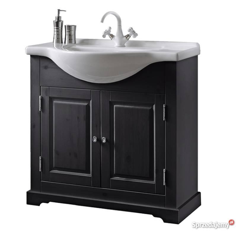 meble �azienkowe szafka z umywalk� ko�o novatop 80cm sosna