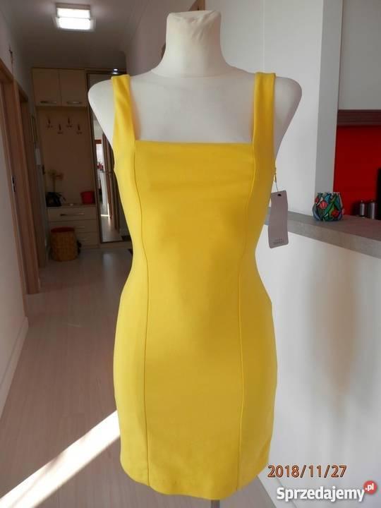 4a3bb7cd42 Sukienka Zara Cytrynowa Modny Żółty Kolor Ołówkowa Spódnice i sukienki  podlaskie Łomża