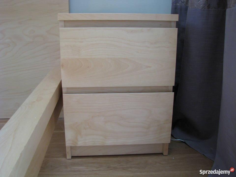Sypialnia Malm Ikea łóżko I 2 Stoliki Nocne Okl Brzozowa
