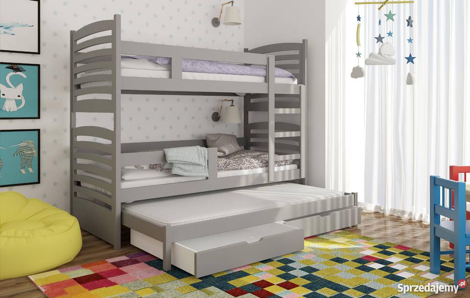 łóżko Piętrowe Dla Dzieci 3 Osobowe