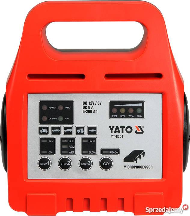Prostownik elektroniczny 612V 8A 5200Ah YT8301