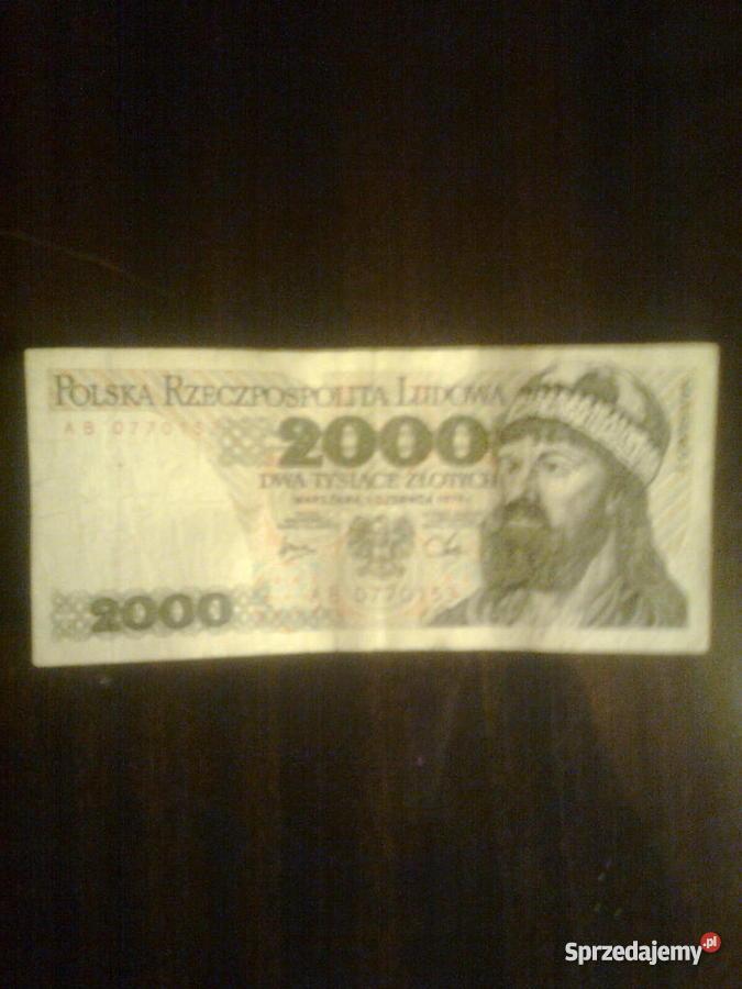 banknoty 2000 z 1979 r i 5000 z 1982 r mazowieckie Warszawa