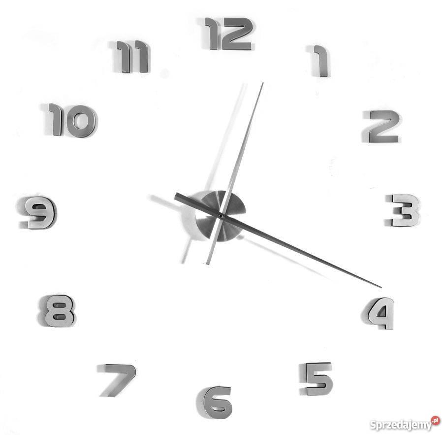 Zegar ścienny Nowoczesny Naklejany Duży