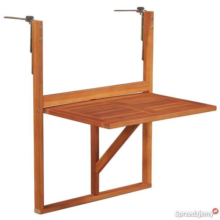 Vidaxl Stolik Balkonowy Z Litego Drewna Akacjowego 44118