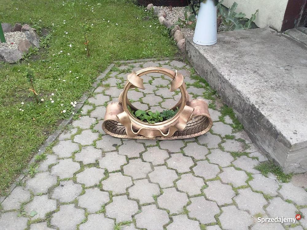 doniczki z opon kwietniki z opon łabędzie kosze Ostróda