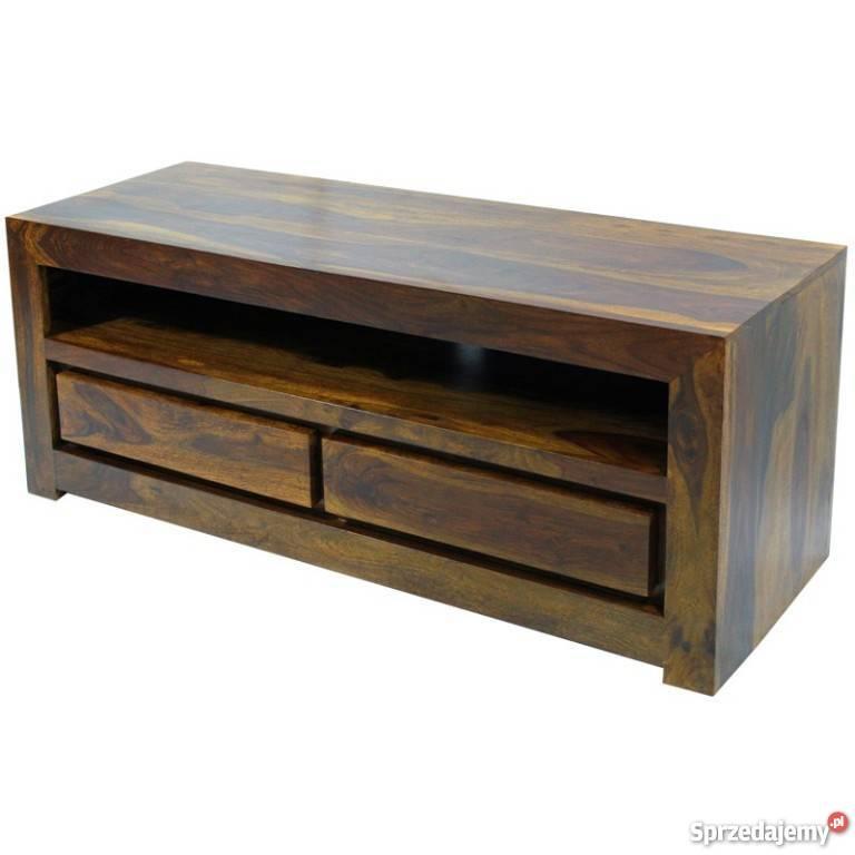 Modne ubrania kolonialny stolik rtv szafka lite drewno palisander Limanowa WR65