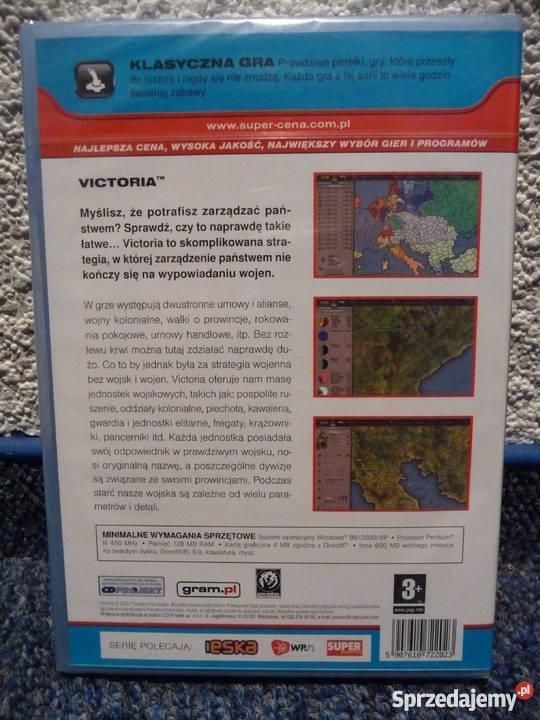 Victoria gra PC nowa folia strategiczne