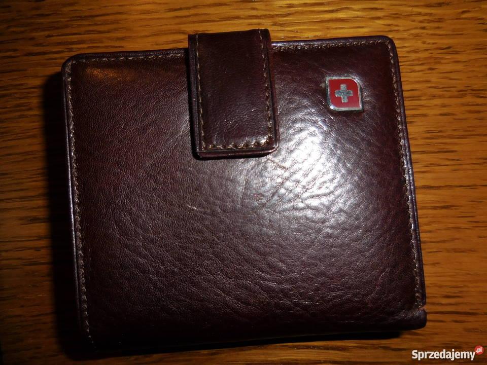 a17d2a07b9743 Genevian Damski Skórzany Brązowy portfel Czarne - Sprzedajemy.pl