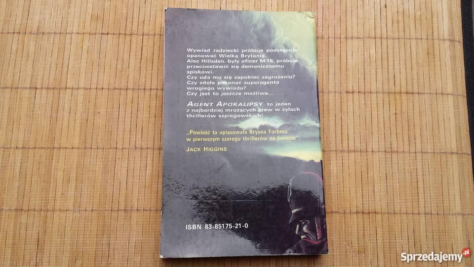 Książka Bryan Forbes Agent apokalipsy Rok wydania 1991