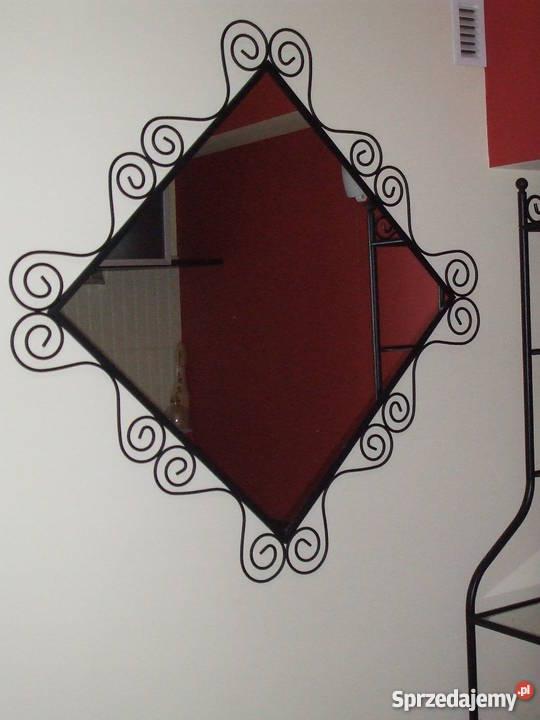 Lustro Stylizowane W Czarnej Metalowej Ramie Ikea Wyszków