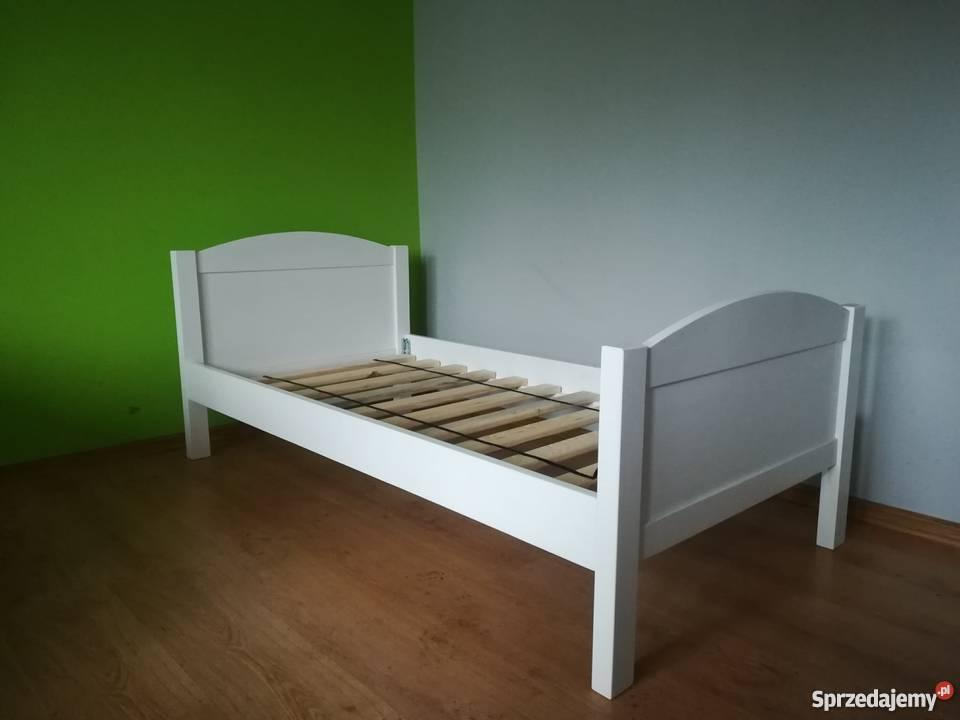 Łóżko drewniane 90x200 białe