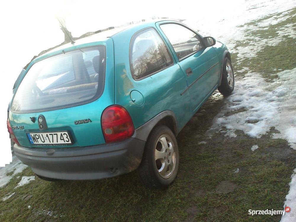 Opel corsa12 benzyna spalanie Rok produkcji 1996