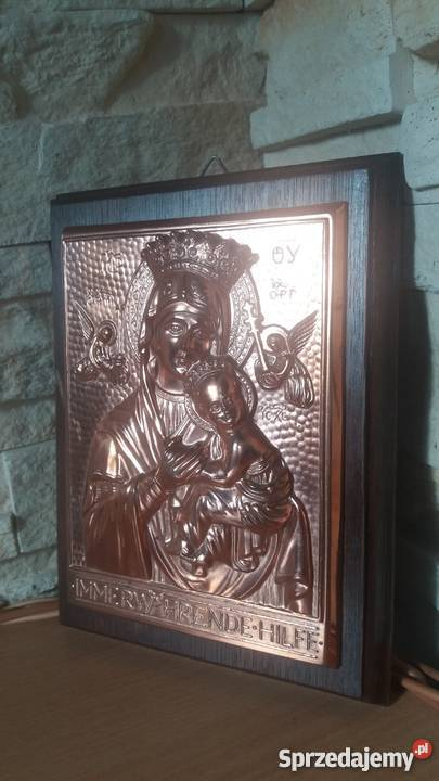 PłaskorzeźbaMatka Boża z Dzieciątkiem małopolskie Lubień sprzedam
