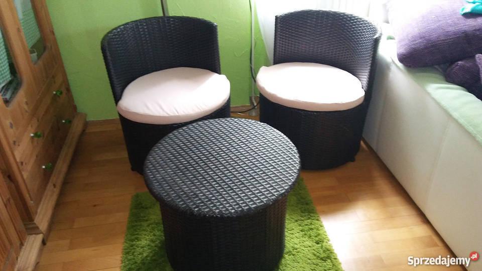 Wspaniały Komplet mebli ogród taras technorattan dwa fotele stolik Nakło nad UK15