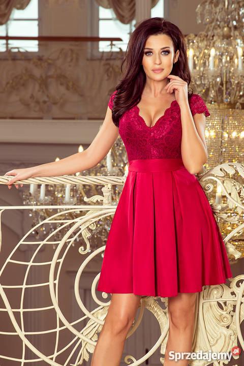 2c689e6e35 bordowa sukienka rozkloszowana - Sprzedajemy.pl