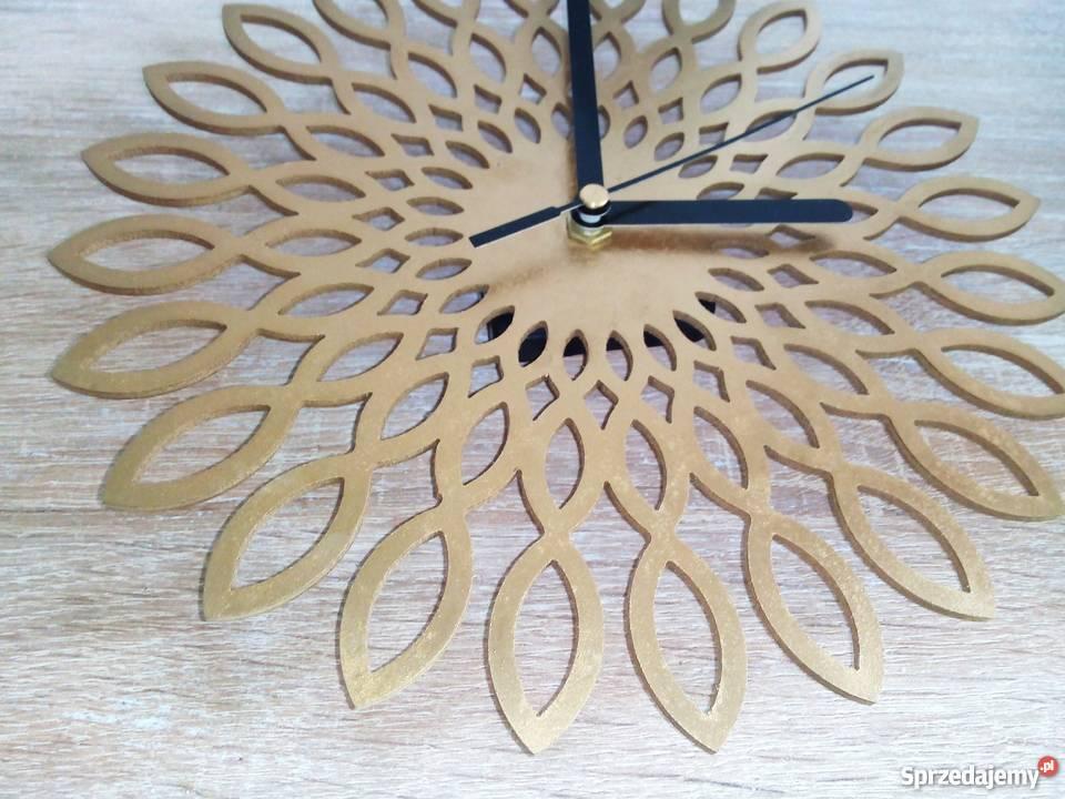 Genialny Zegar wzorowany na Sunflower, Styl Skandynawski, sunburst Warszawa LO91