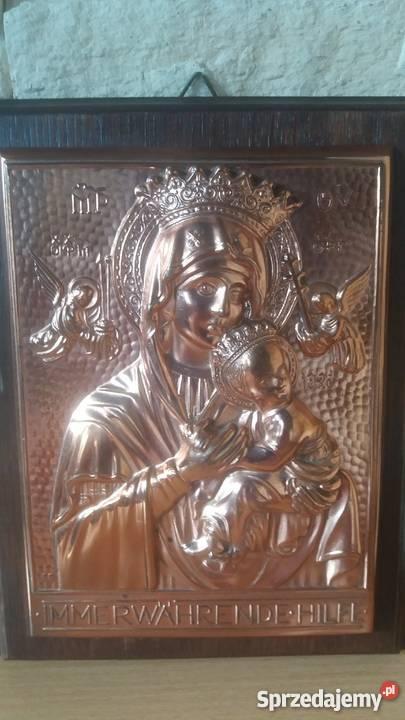 PłaskorzeźbaMatka Boża z Dzieciątkiem Dekoracje i ozdoby Lubień