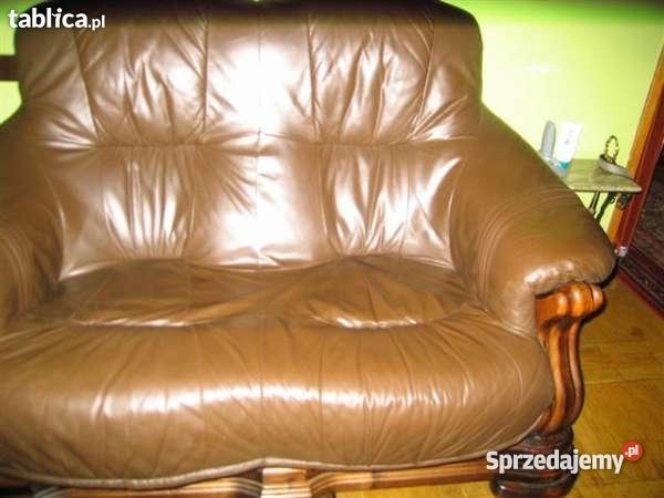 sofa skóra dąb