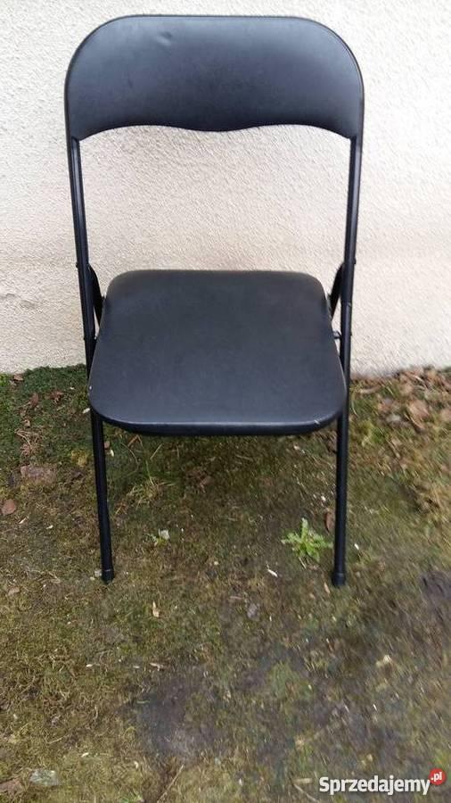 Krzesło Jysk Składane Czarne Do Naprawy Lub Na Części 044