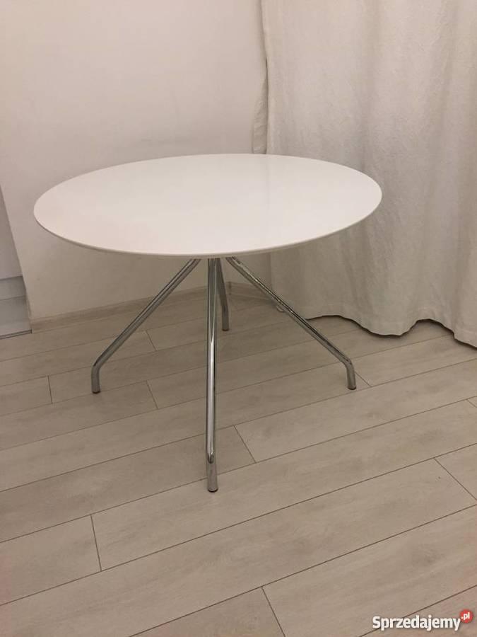 Modne ubrania biały okrągły stół z krzesłami - Sprzedajemy.pl KI45