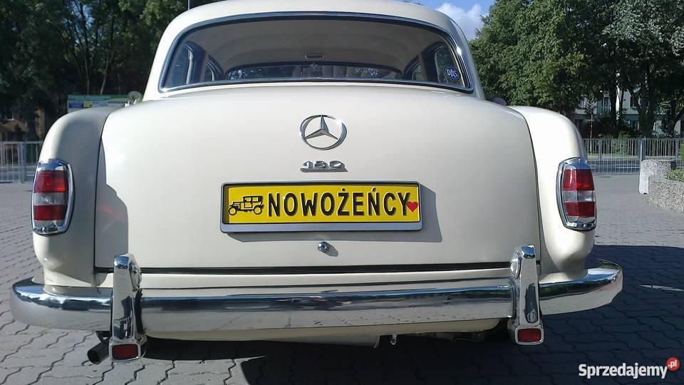 Zabytkowy Mercedes W120 z 1957 roku ślubywolne Obsługa imprez Warszawa obsługa imprez