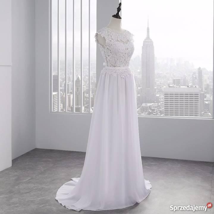a5d962887630ca Suknia ślubna sukienka linia-a koronka 34 36 38 40 42 44 46 Jelenia ...