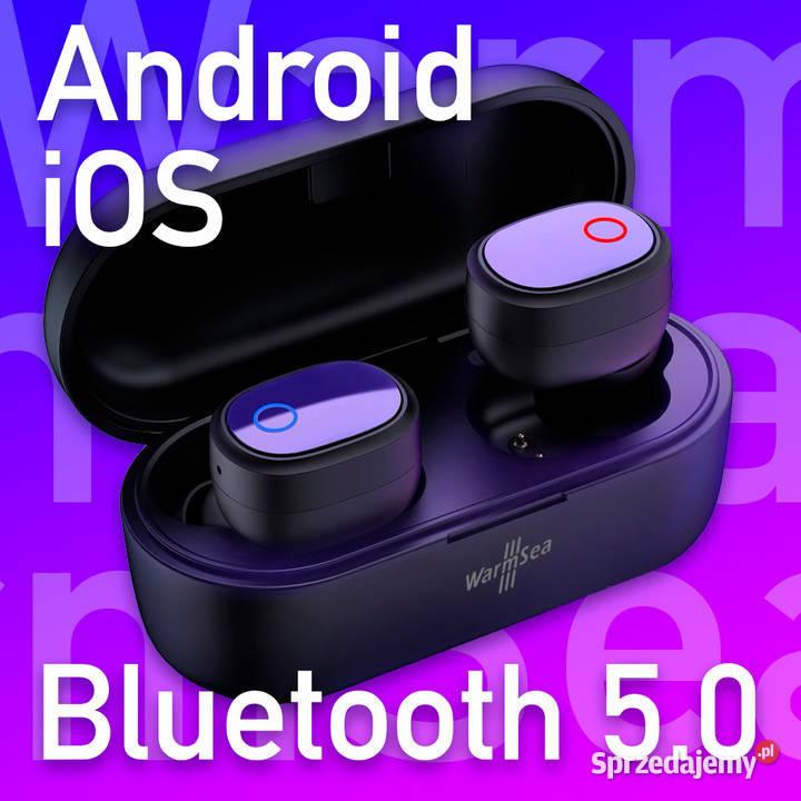 WarmSea TWS nowe słuchawki bezprzewodowe bluetooth 5.0