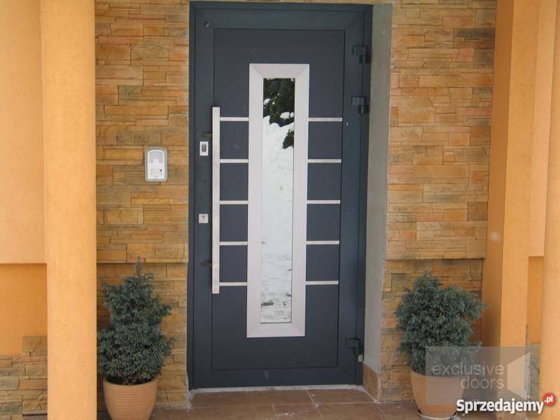 Drzwi Zewnetrzne Aluminiowe Kolor Antracyt System Schueco