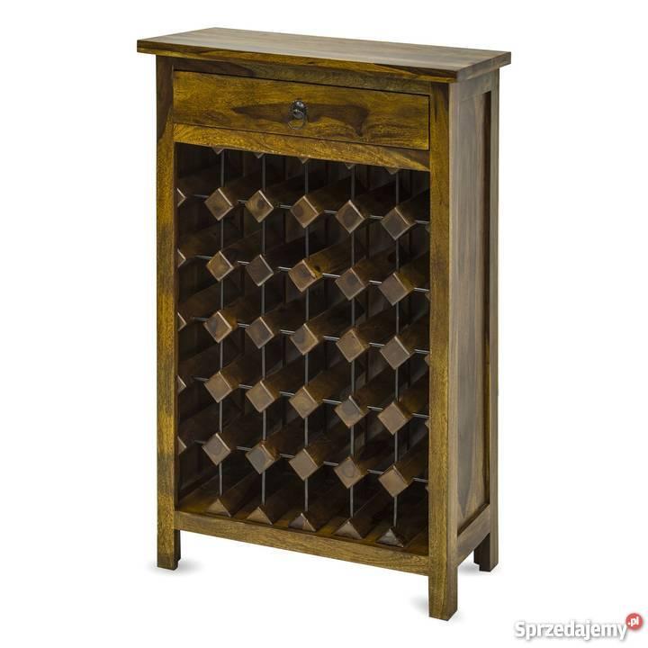 Drewniany stojak na wino barek szafka na alkohol  80578