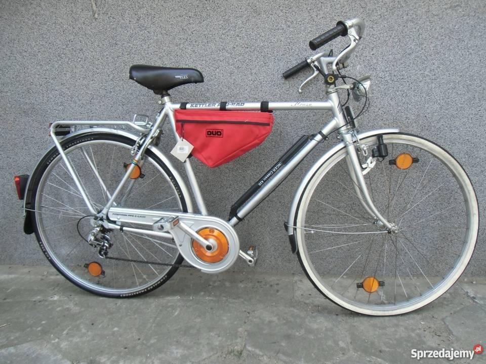 Duża torba rowerowa trójkontna na ramę z dobrego Warszawa