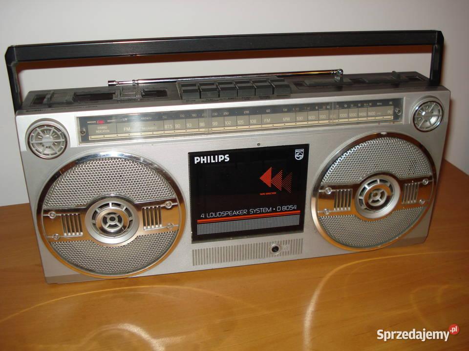 PHILIPS D8054 Radiomagnetofon z lat 80 dla kolekcjonera.