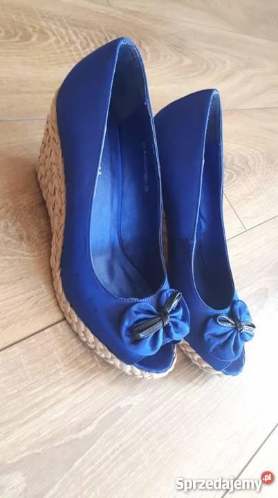 f9884000af0f70 buty na koturnie bez palców - Sprzedajemy.pl