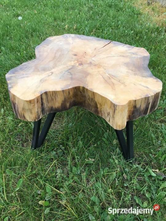 Stolik Kawowy z Pnia drzewa Klonowego Monolit