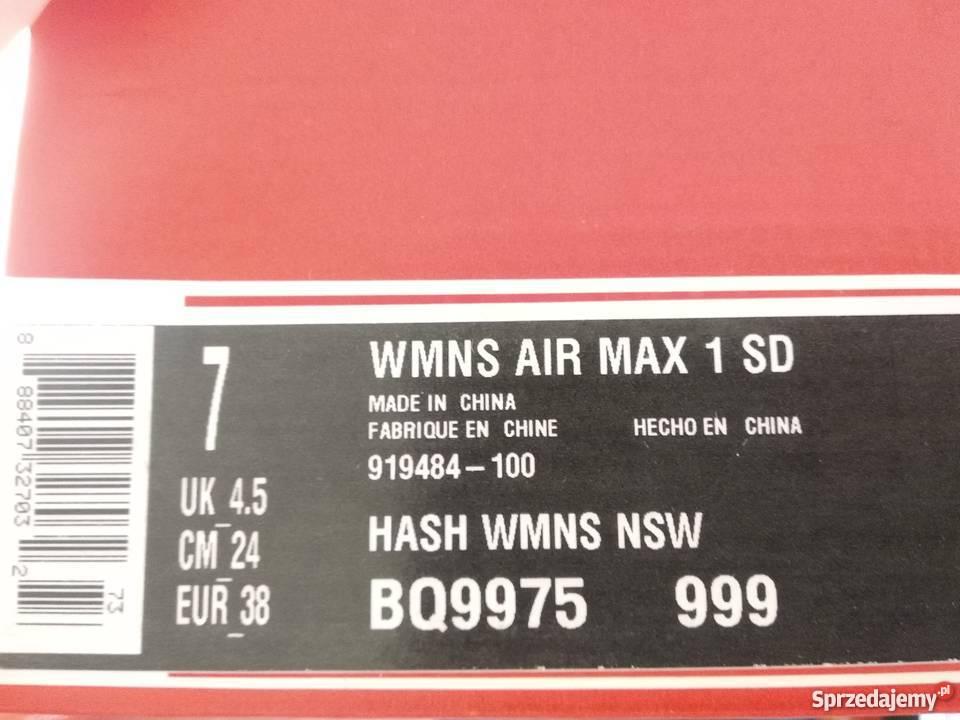 Nowe damskie Nike Air Max 1 SD, eur 38