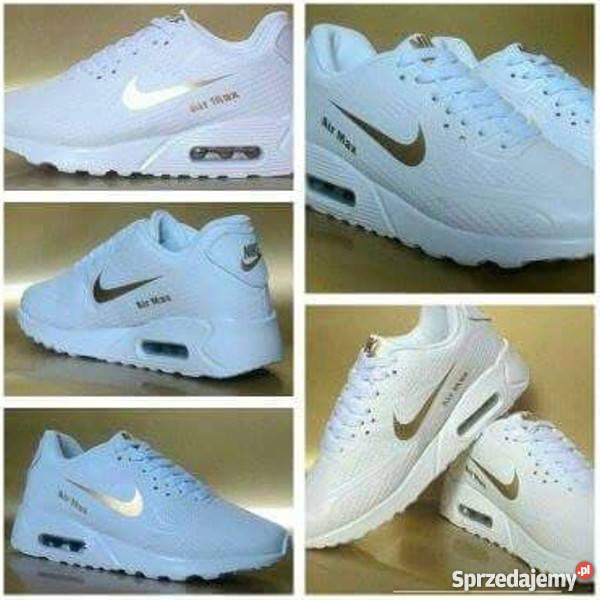 Buty Nike białe z różową łyżwą