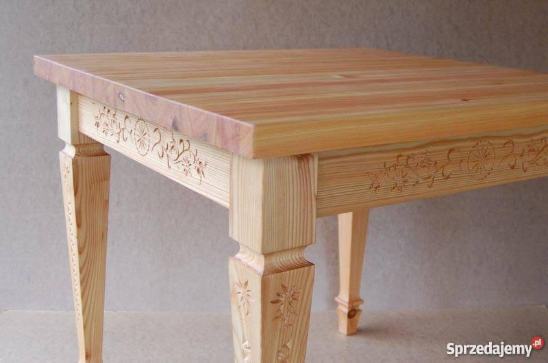 Bardzo dobry stół góralski drewniany na zamówienie Rajcza - Sprzedajemy.pl PT88