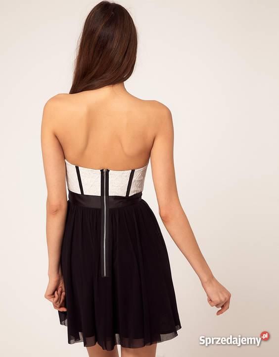 44d790a1e6 Sprzedam Czarno-białą sukienkę ASOS rozmiar 38 ! Pustków-Osiedle ...
