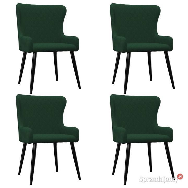 vidaXL Krzesła jadalniane, 4 szt., zielone, (279163)
