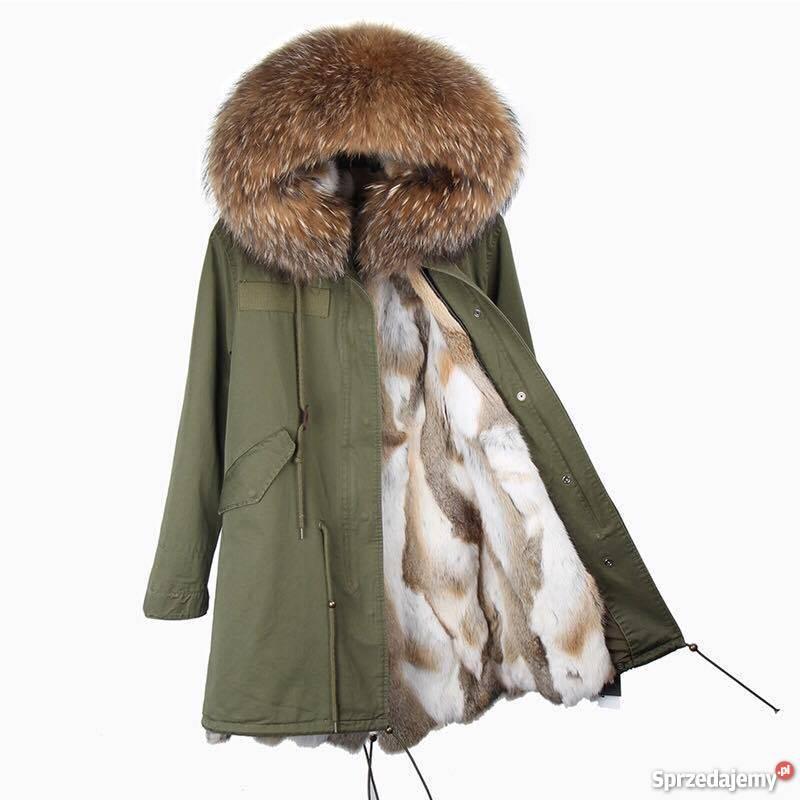 kurtka parka damska zimowa z jelotem