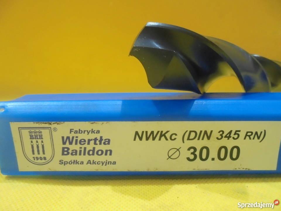 Wiertło NWKc 30mm HSS DIN 345 RN NOWE Katowice