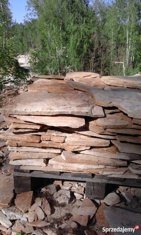 Kamień piaskowiec dzikówka elewacje ogrodzenia Śmiłów