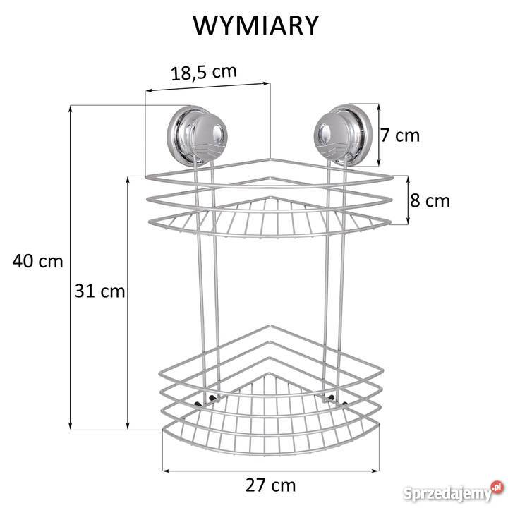 Koszyk łazienkowy Półka Narożna Pod Prysznic Regał 2 Półki Warszawa
