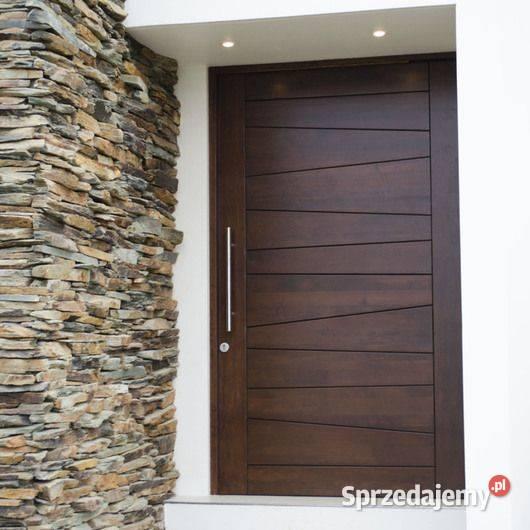 Drzwi drewniane wejściowe PRODUCENT możliwy montaż