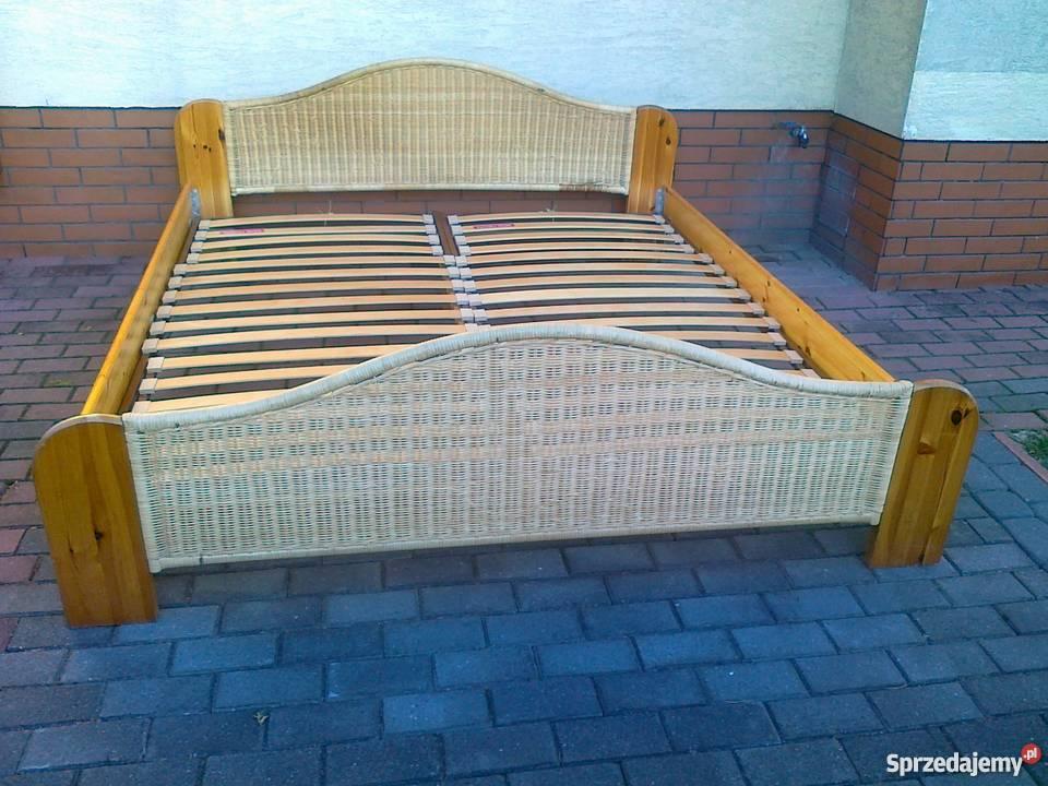 łóżko 180x200 Rama Sosnowe Stelaż Materac Małżeńskie