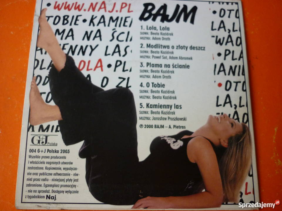 Płyta CD Bajm Lola Modlitwa o złoty deszcz Plama Płyty i kasety mazowieckie