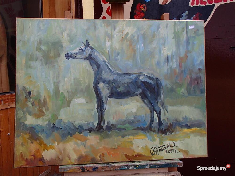 Obraz Konia Ręcznie Malowany Na Płótnie Prezent 60x80 Sprzedajemypl