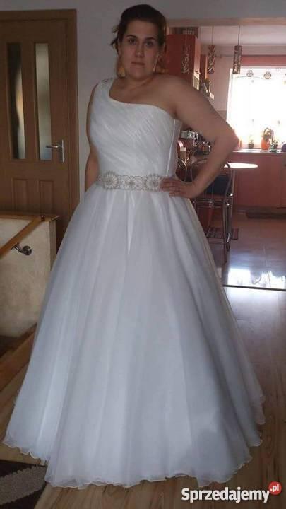 Cudowna Suknia ślubna Księżniczka Rozm 42 46 świdnica Sprzedajemypl