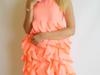 Sukienka neonowa-brzoskwinia / pastylowy róż / szara S i M