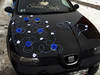 dekoracja samochodu, dekoracja na samochód ślubny